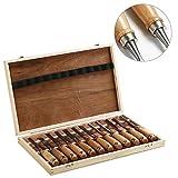 Yahee Stechbeitel Set Stemmeisen Holz Werkzeug mit Koffer 12-tlg.