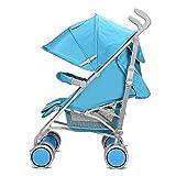 &Klappwagen Spaziergänger Subnotebook Regenschirm Autosonnenschutz Schock Klappkinderwagen Kinder Roller Kinderwagen hohe Einschaltquoten (Farbe : Blau)