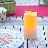 LED Kerze für Außen mit Timer 15cm Lights4fun