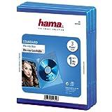 Hama Blu-ray-Hülle (auch passend für CDs und DVDs, mit Folie zum Einstecken des Covers) 3er-Pack, blau