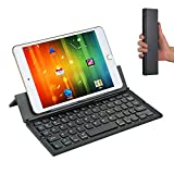 Bluetooth Tastatur, Cozyswan Ultradünne Wireless Keyboard Faltbare Minitastatur Universelle...