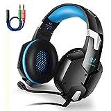 Gaming-Headset-Stereo-Kopfhörer von Aizbo mit geräuscheliminierendem Mikrofon, 50mm geroßem,...