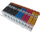 ESMOnline 10 komp. XL Druckerpatronen Canon Pixma MG 5450 5550 5650 5655 6350 6450 6650 7100 7150 7550 MX 725 925 iP 7200 7250 8750 iX 6850