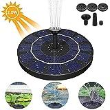 AimTop Solar Springbrunnen, 2.5W Monokristalline Solar Brunnen Solar Teichpumpe Solar Wasserpumpe Solar Schwimmender Fontäne Pumpe für Gartenteich Oder Springbrunnen Vogel-Bad Fisch-Behälter