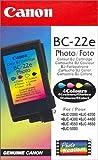 Canon 0902A002 BC-22E Foto Tintenpatrone schwarz und dreifarbig Standardkapazität 1er-Pack