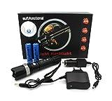 Profi Cree LED Taschenlampe Flashlight SWAT HI-Power | inkl. 2 x Li-ion Akku + Netzteil + KFZ...