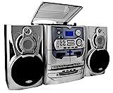 Karcher KA 5300 Kompaktanlage (3-fach CD-Wechsler, Schallplattenspieler, Kassettendeck, Radio,...