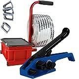 Umreifungs Set für für Textilband (Kompositband) mit Spanngerät * Abroller * Dahtklammern * 16mm Kompositband