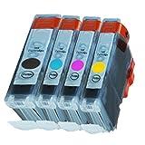 4 Druckerpatronen Tinte für Canon IP3000 IP4000 IP4000R Multipass C 100 ersetzen BCI-3 und BCI-6