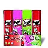 Pritt Klebestift Mix Pack / 2 Pritt Stifte Original, 1 Klebestift Grün, 1 Klebestift Pink / Lösungsmittelfrei / Wasserlöslich / Klebestift für Kinder / Ablösbar / Pritt Klebestifte (2x22g, 2x20g)