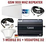 GSM Repeater Signalverstärker für Telefonie T-Mobile D1 Vodafone D2 + leistungsstarke...