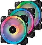 Corsair LL120 RGB PWM PC-Gehäuselüfter (120mm, 2 separate Lichtschleifen, mit Lighting Node und...
