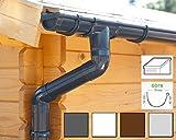 Dachrinnen/ Regenrinnen Set | Pultdach (1 Dachseite) | GD16 | in 4 Farben! (Komplettes Set bis 3.50 m, Anthrazit)