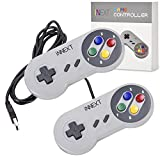 iNNEXT® 2x USB SNES Gamepad/Controller für PC Windows 10 Mac Raspberry Pi NES/SNES Emulator