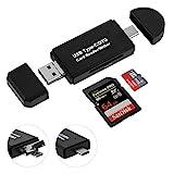SD Kartenleser USB Type C//USB 2.0/Micro USB OTG 3 in 1 Kartenlesegerät Adapter, SONOKA TF, SDXC,...