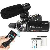 Video Camcorder, ACTITOP 1080P FHD-Camcorder 24MP 16X DigitalzoomVideokamera 3,0 Zoll Bildschirm...