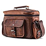 A.P. Donovan - Kameratasche aus Leder | Fototasche | Schultertasche | Umhängetasche für Fotozubehör (Leder Braun)