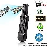 MICF 1080P HD USB Kamera tragbare kleine Kamera Stift Kamera mit Aufzeichnung Mini Überwachungskamera Kleine Kamera Diktiergerät, Real-HD-Video, Ton- und Bildaufnahme, Multifunktionales Aufnahmegerät mit 32GB