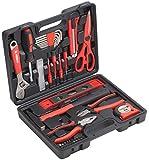 Meister Haushaltskoffer 44-teilig ✓ Werkzeug-Set ✓ Werkzeug für den täglichen Gebrauch | Werkzeugkoffer befüllt | Werkzeugset | Werkzeugbox komplett mit Werkzeug | Werkzeugsortiment | 8971430