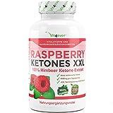 Original Raspberry Ketones XXL - 4000mg Tagesdosierung - 250 Kapseln - 100% Himbeere Ketone Extrakt - 62 Tage Anwendung - Fatburner - Vit4ever
