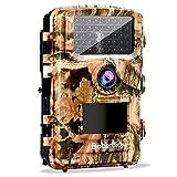 Baberdicy Wildkamera Fotofalle, 12MP 1080P Full HD Wildkamera mit Bewegungsmelder 120 ° Weiter Winkel Jagdkamera 22m Sensorabstand auslösen, 42 Nacht LED Lichter, 2.4 '' LCD Display