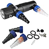 Deuba Teichklärer UVC Klärer Lichtfilter Wasserklärer - 11 Watt - Kabellänge: 5 m - inkl. 3 Anschlussadapter