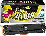 Yellow Yeti Gelb Premium Toner kompatibel für HP LaserJet Pro 200 Color MFP M276nw M276n M251nw M251n CP1525n CP1525nw CM1415fn CM1415fnw CM1312 CM1312nf CM1312nfi CP1215 CP1217 CP1514n CP1515n CP1518ni Canon i-SENSYS LBP5050 LBP5050n LBP7100Cn LBP7110Cw MF623Cn MF628Cw MF8030Cn MF8040Cn MF8050Cn MF8080Cw MF8230Cn MF8280Cw [3 Jahre Garantie]
