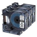 Markurlife A45013-3 Etikettenband für Dymo schwarz auf weiß kompatibel mit LabelManager, 3 Stück