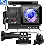 Victure Action Cam 4K WIFI 20MP Wasserdicht 30M Unterwasserkamera Ultra Full HD Sport Action Kamera...