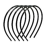 Haarreife - SODIAL(R) Maedchen Einfarbig aus Plastik Zaehnedecor Haarreifen Schwarz 5 Stueck