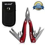 Gelindo Werkzeug Premium Universalzufuhr mit Tasche, Messer, Zangen, Säge und Mehr (rot)
