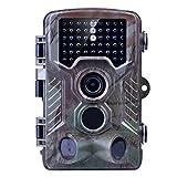 Wildkamera Kuman Jagdkamera Jagdzeug Überwachungskamera 3 Zone Infrarot Nachtsicht Fotofalle Spur -12MP 1080P HD mit Zeitraffer 65 ft 120 °Weitwinkel Nachtsicht für Game & Jagd with 2.4'' TFT LCD Wildlife Hunting camera H801