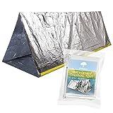 Notfall Zelt, Thermo Zelt für Survival, Notfälle, Camping oder Wandern. Schützt gegen Regen, Kälte, Sturm, Wind und Erfrierung