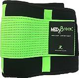 Orthopädischer Rücken- und Bauchgürtel MEDiBrace von ProfessorZ   Rückenbandage stützt und schützt vor Verletzungen und Schmerzen bei Sport, Arbeit und Freizeit (112-140cm 3X-LARGE, Limettengrün)