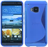 HTC One M9 Silikon Hülle Tasche Case Gummi Schutzhülle Zubehör in Blau @ Energmix