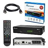 Kabelreceiver  HB-DIGITAL SET: Skymaster XC80-HD Kabel Receiver DVB-C für Kabelfernsehen und Multimediaplayer (HDMI, SCART, USB 2.0, RJ45 LAN, LNB in, SPDIF Coaxial, Antennenein- und Ausgang, Mediaplayer, DVB-C) + HDMI Kabel mit Ethernet Funktion und vergoldeten Anschlüssen - HD XC80 Digital Cable Receiver HDXC80 DVBC XC80HD