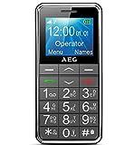 Mobiltelefon | AEG Voxtel M250 Senioren-Handy mit großen Tasten und ohne Vertrag | Mit Notruf-Knopf...