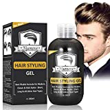 Haargel Männer Haarstyling Haarcreme für dickes, dichtes, schweres, kräftiges Männer Haar - Sehr starker Halt, Instant Dynamic Modeling Haar Styling, 200ml