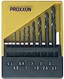 PROXXON 28874 Set HSS Spiralbohrer 0,3-3,2mm mit Halter 10 teilig