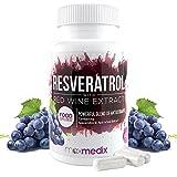 Resveratrol™ 250mg | 100% Rotwein-Extrakt | Zum Abnehmen | Bei Heißhungerattacken | Regt Stoffwechsel an | 100% natürliche Inhaltsstoffe