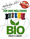 Recycling Design No.6 - ***Mülltonnenaufkleber/ Sticker/ Tattoo*** frei wählbare Wunschfolienfarbe!