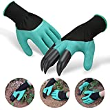 Browill Wasserdicht Gartenhandschuhe [1 Paar] langlebig stichsichere Safe Gartenarbeit Handschuhe mit ABS-Kunststoff krallen für Haushalt und Garten Werkzeug handschuhe