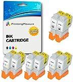 8 Tintenpatronen kompatibel zu Canon BCI-24 BCI-21 für Canon iP1000 iP1500 iP2000 MP110 MP130 MP200 MP360 i250 i320 i350 S200X BJC-2000 BJC-2010 BJC-2100 BJC-4650 - Schwarz/Farbig, hohe Kapazität