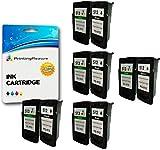 10 Druckerpatronen für Canon Pixma MP230, MP235, MP240, MP250, MP252, MP260, MP270, MP272, MP280, MP282, MP480, MP490, MP492, MP495, MP499, iP2700, iP2702, MX320, MX330, MX340, MX350, MX360, MX410, MX420 | kompatibel zu PG-512 (PG512), CL-513 (CL513)