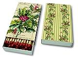 Streichhölzer Kaminholz Kaminhölzer (Matches Christmas holly) Stechpalme Weihnachtsblume Weihnachten Winter Schnee Tiere Wald Schneemann Merry Christmas