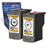 2x Druckerpatrone Ersatz für Canon PG-40 XL + CL-41 XL für Canon PIXMA MP140 MP450 MP190 MP210 MP220 MP470 MP460 IP2500 IP1800 IP1900 MX300 IP2600 IP1600 IP2200 IP1700 IP2580 MP160 MP450 X MX310 MP180 MP150 MP170 IP1200 IP1300 Fax JX200 JX210 P JX500 JX510 P JX210 P