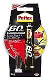 Pattex 60 Sekunden Universalkleber / Extra starker und wasserfester Kleber - ideal auch für größere Reparaturen / 1 x 20g