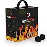 BLACKCOCO's | 4KG | Premium Kokosnuss Naturkohle für SHISHA & BBQ [Shisha Kohle]