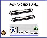 Konver K-729 Tonerkartusche, kompatibel mit Serie K-729A, für Drucker Canon Sensys LBP 7010C, LBP 7018C, Schwarz, 2er-Pack, Versand aus Madrid
