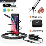 Endoskopkamera Android Endoskop WIFI USB Kamera Inspektionskamera Wasserdichte mit 24 ' Flexible Pick up Tool Krallengreifer 720P HD 2.0 MP für Android, IOS, iPhone 14,9ft (5M)